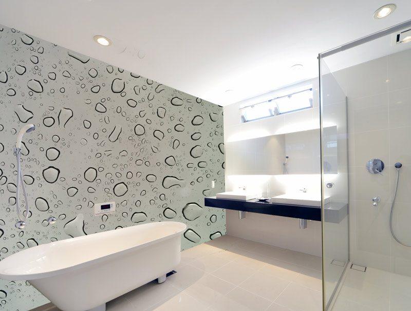 טפט טיפות מים   טפט לחדר אמבטיה   טפט מדבקה