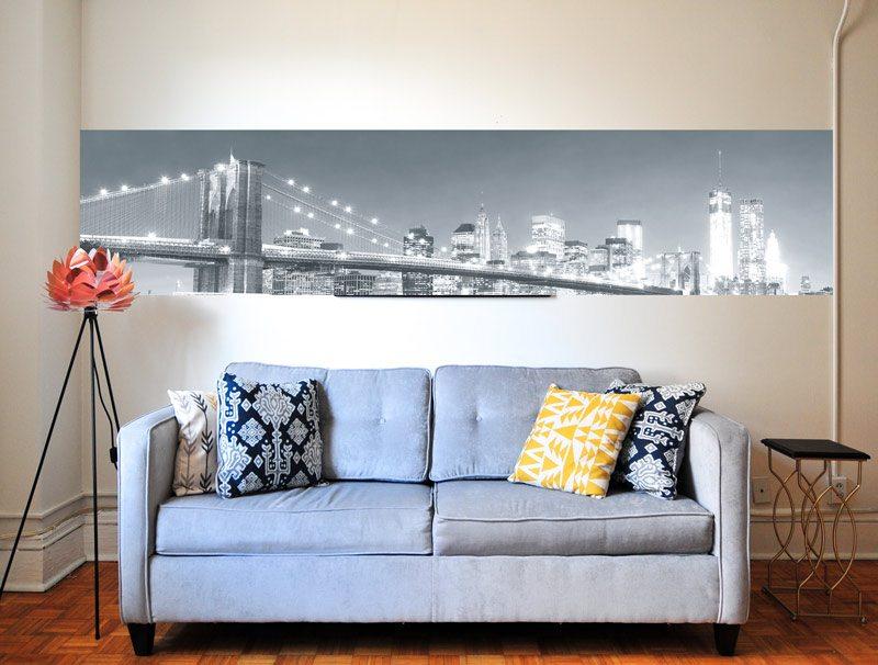 מדבקת קיר לסלון   מדבקת קיר   בורדר ניו יורק