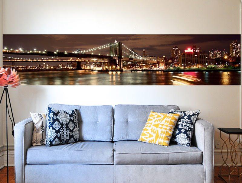 מדבקת קיר לסלון   מדבקת קיר   בורדר גשר ניו יורק