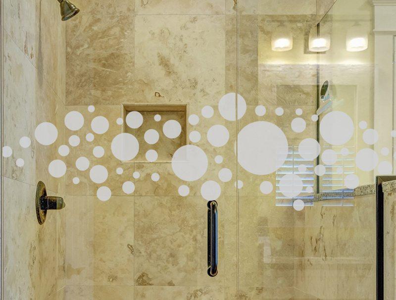 מדבקות קיר למקלחת   מדבקה לזכוכית   בועות