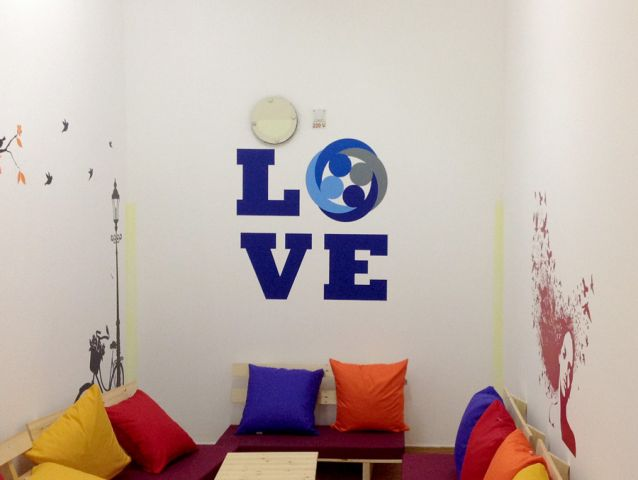 Wall branding in schools and colleges 1