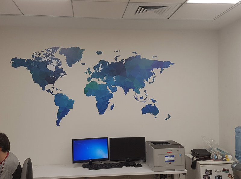 Wall branding in schools and colleges 20