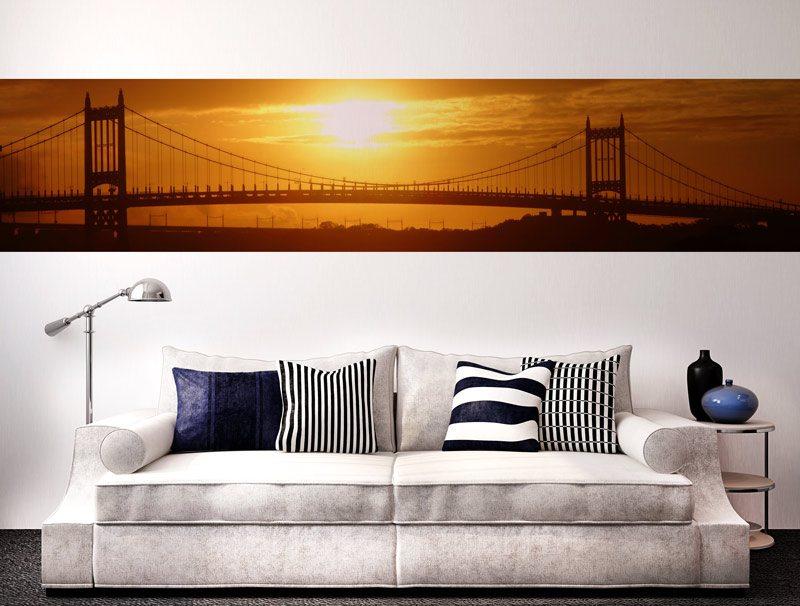 מדבקת קיר לסלון   מדבקת קיר   בורדר סן פרנסיסקו