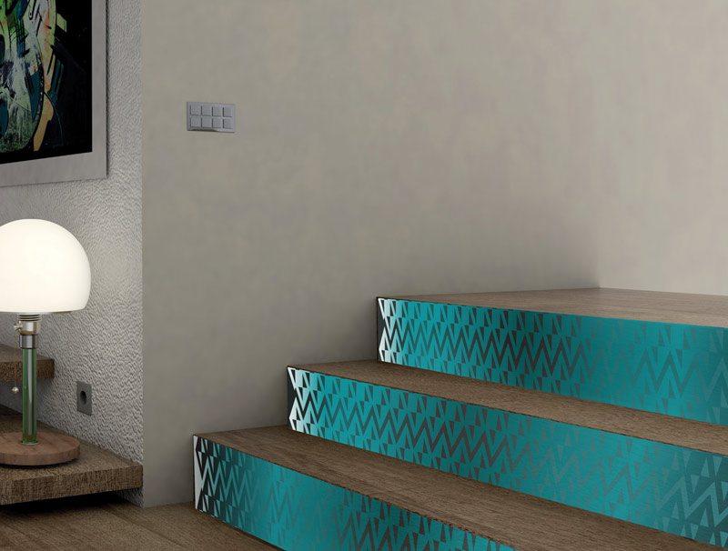 מדבקות קיר מעוצבות | מדבקות למדרגות | טורקיז מדליק