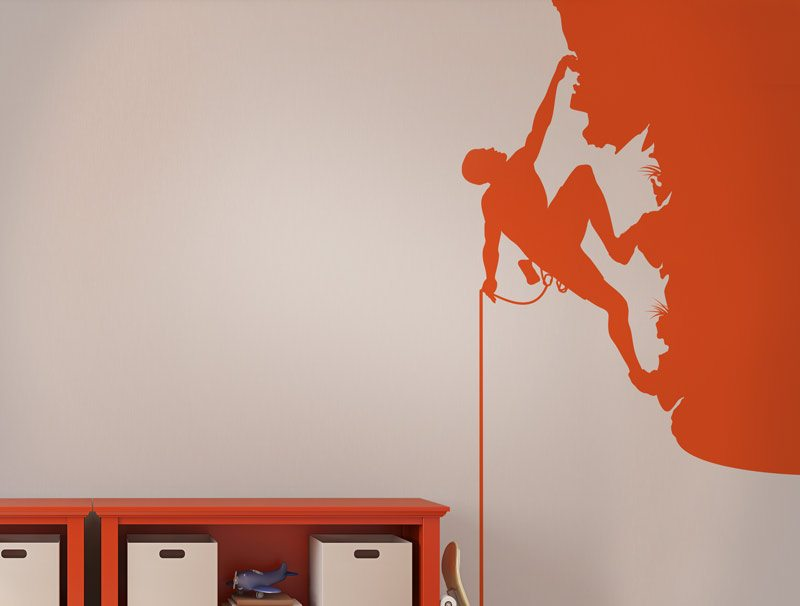 מדבקת קיר לחדרי ילדים | מדבקות קיר | מטפס הרים