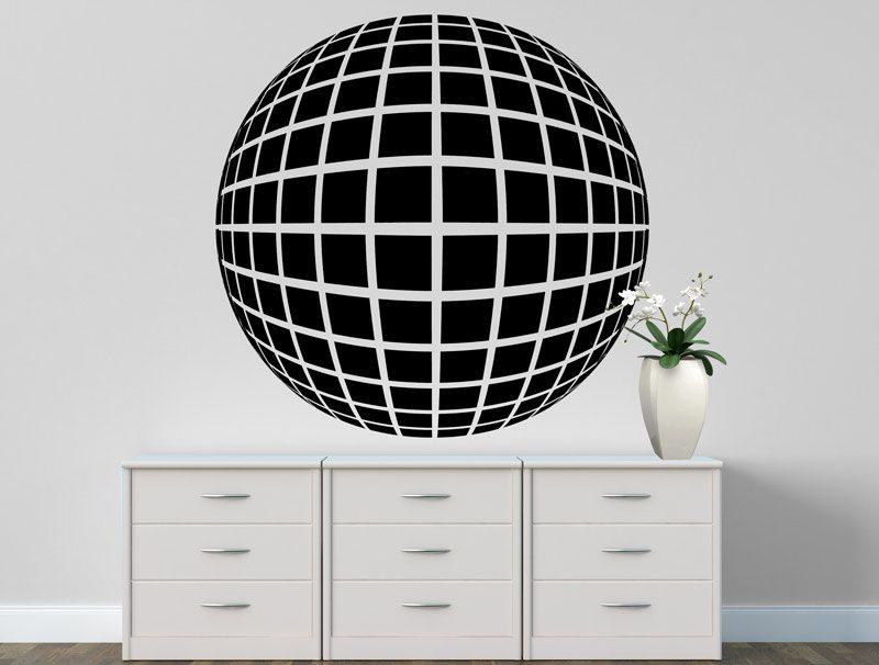 כדור תלת מימדי - מדבקת קיר