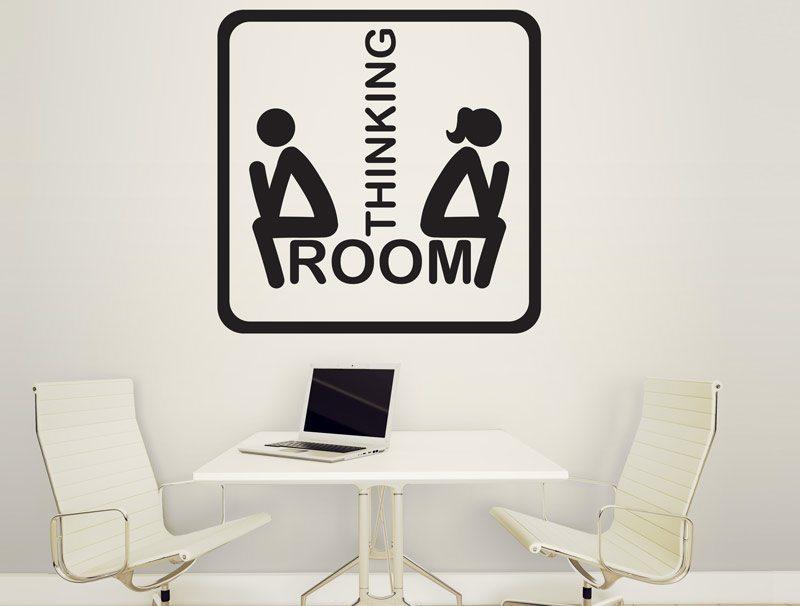 מדבקת קיר חדר חשיבה