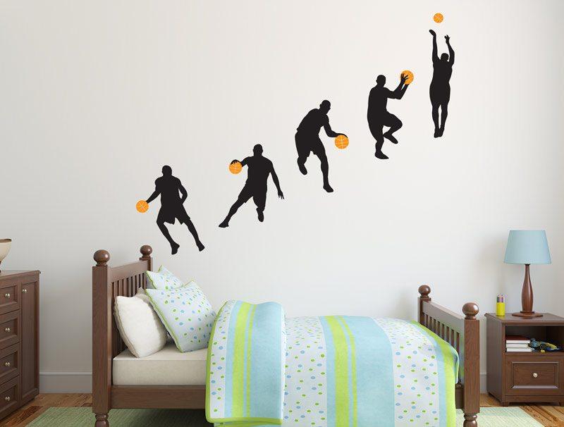 מדבקות קיר של שחקני כדורסל